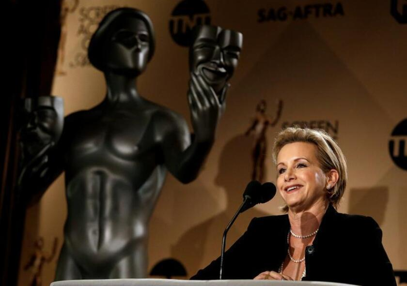 La actriz estadounidense y presidenta del Gremio de Actores de Cine (SAG) y la Federación Americana de Artistas de Radio y Televisión (AFTRA), Gabrielle Carteris. EFE/Archivo