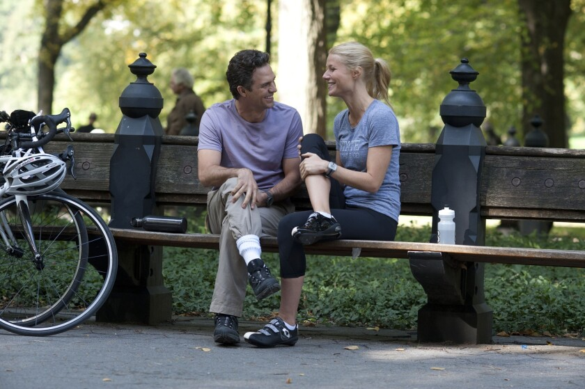 """Mark Ruffalo, left, and Gwyneth Paltrow in a scene from """"Thanks For Sharing."""""""