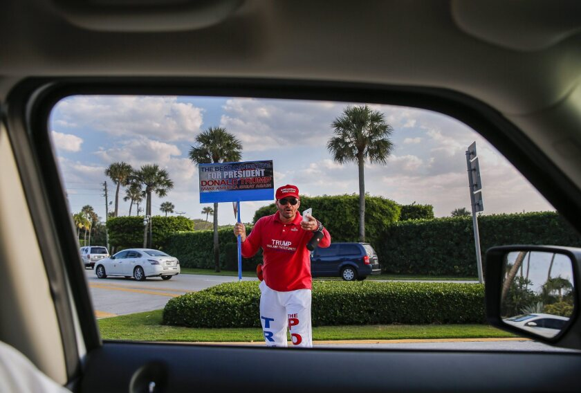 Trump supporter in Palm Beach, Fla.
