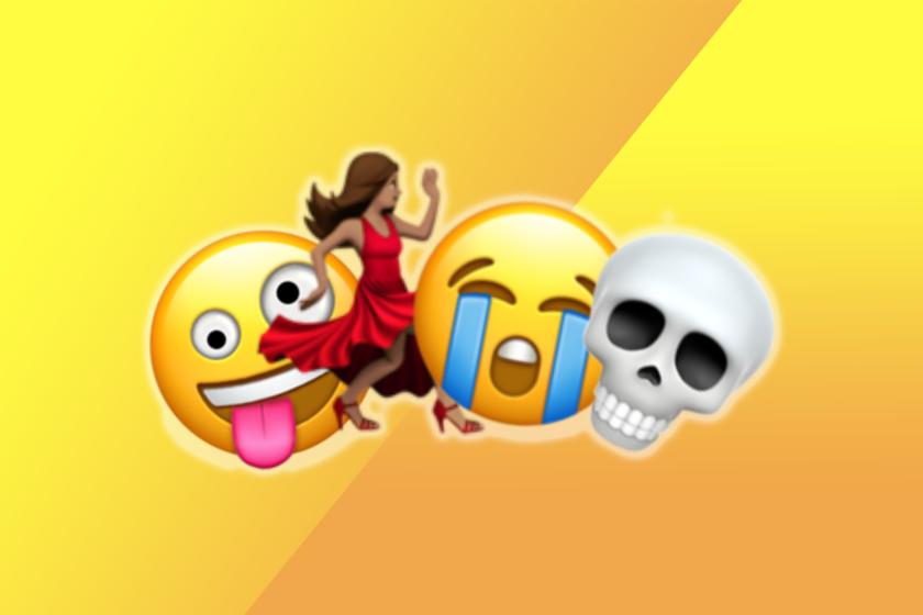 Various emojis conveying humor