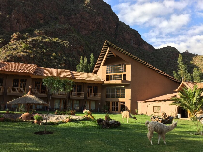 The lodge where trekkers stay in Lamay, Peru, en route to Machu Picchu.