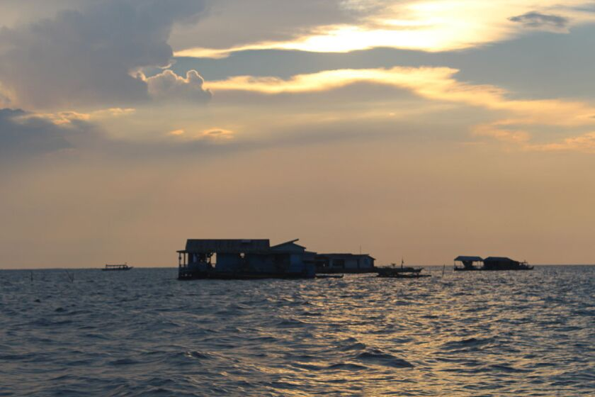 An Adventure Life cruise starts at Tonle Sap Lake in Cambodia and sails to Vietnam during an eight-day tour.