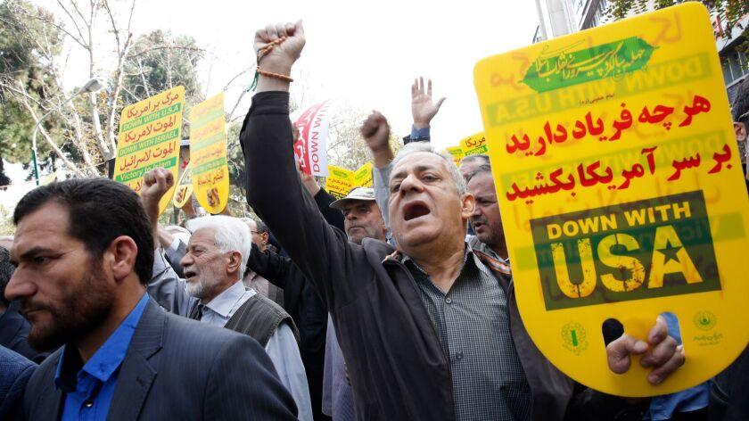 Anti-US protesters commemorate takeover of US embassy in Iran, Tehran, Iran (Islamic Republic Of) - 04 Nov 2018