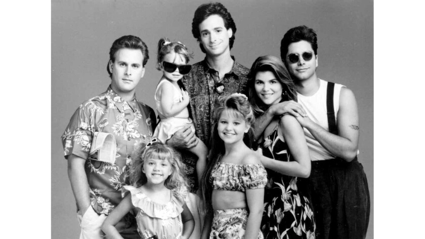 """The cast of """"Full House"""" in 1991."""