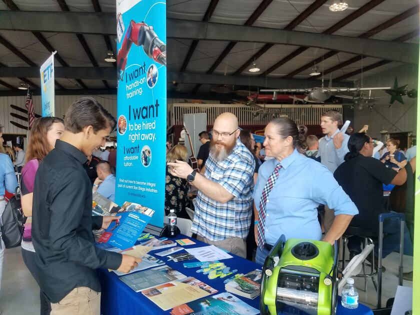 The 2018 Manufacturing Expo, held at a museum at Gillespie Field, drew more than 500 attendees.