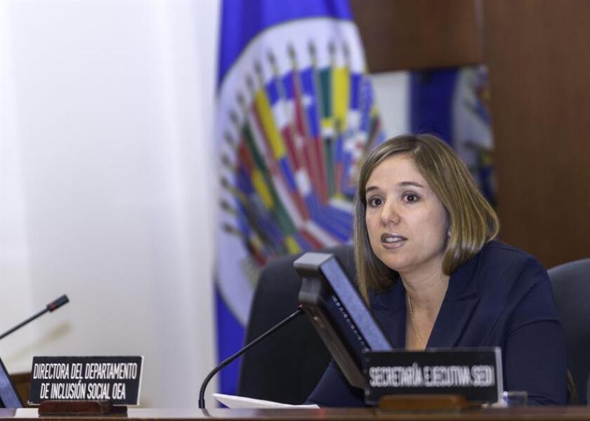 """Betilde Muñoz-Pogossian, politóloga de profesión, venezolana de nacimiento y ahora directora del Departamento de Inclusión Social de la Organización de Estados Americanos (OEA), en una entrevista con Efe, pide combatir los estereotipos de """"princesas"""" con el que crecen muchas niñas e incentivarlas a que se proyecten como """"presidentas"""". EFE/OEA/Juan Manuel Herrera /SOLO USO EDITORIAL"""