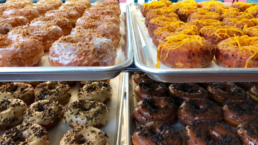 Doughnuts from actor Danny Trejo's Trejo's Coffee and Donuts in Hollywood.