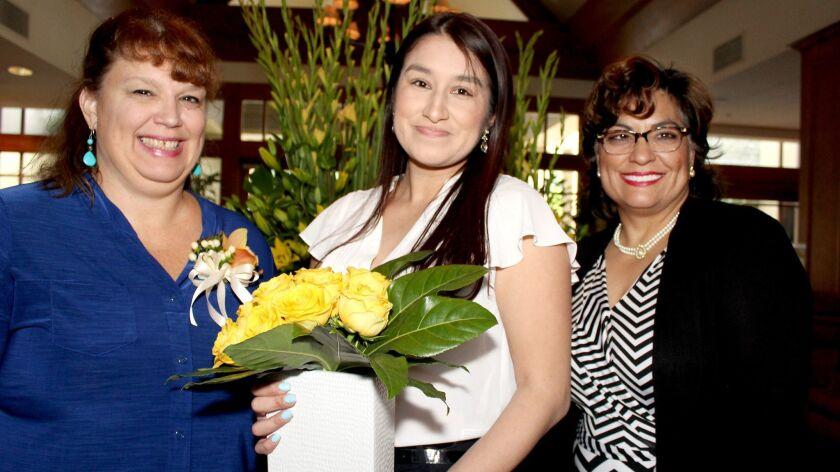 """""""Live Your Dream"""" awardees honored by Glendale Soroptimists are, from left, Rita Falkenhagen, Franci"""