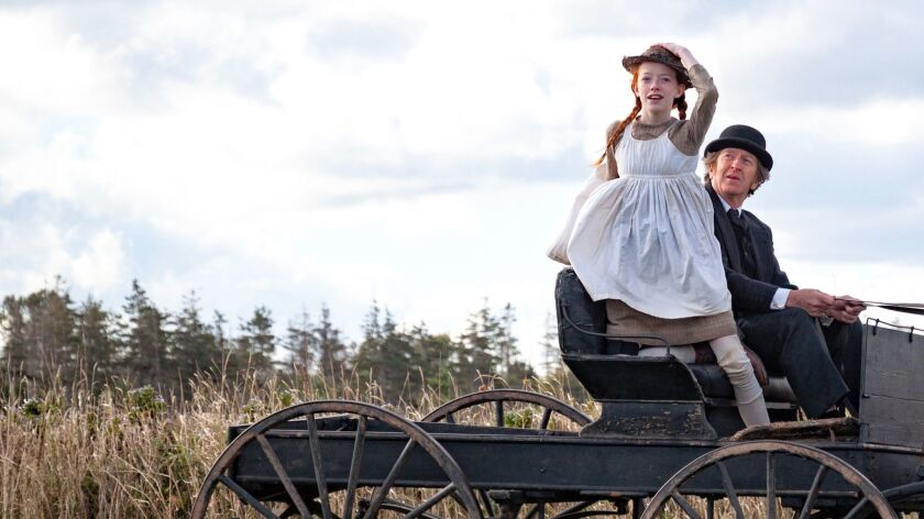 "Amybeth McNulty, who stars as Anne, with R.H. Thomson as Matthew Cuthbert in the new Netflix series ""Anne with an E."""