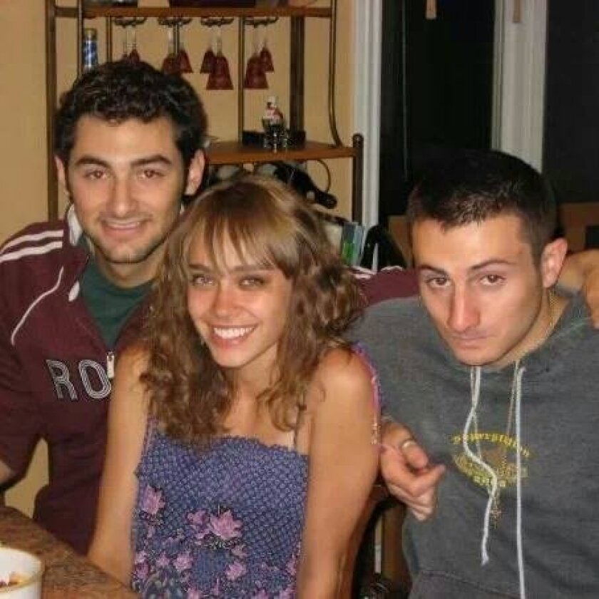 From left to right, Gianni Belvedere, Ilona Flint and Salvatore Belvedere are shown together in this photo posted on Facebook by a family member.