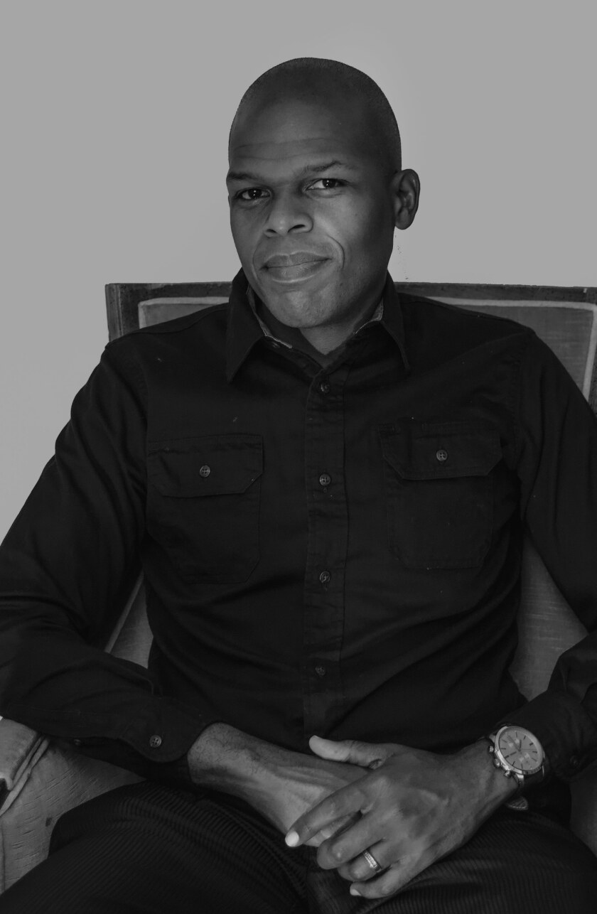 """An author photo of Maurice Carlos Ruffin for his book """"We Cast a Shadow."""" Credit: Clare Welsh"""