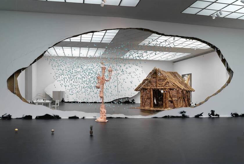 Art review: Urs Fischer's grand gestures come up short at MOCA