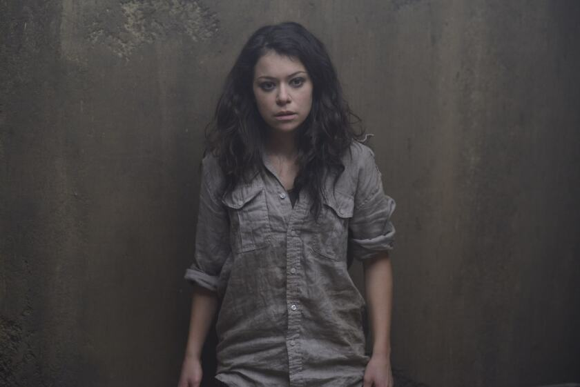 "Tatiana Maslany as Sarah Manning on ""Orphan Black."""