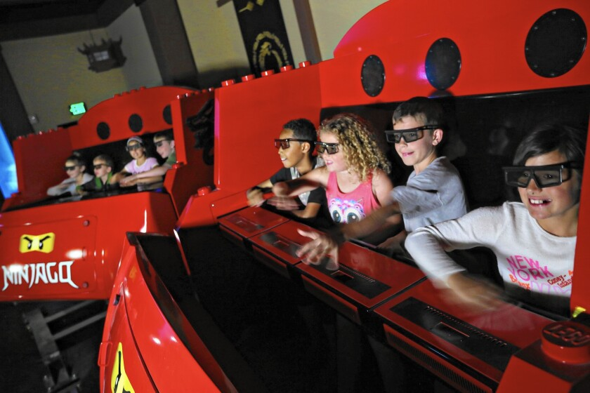Legoland's Ninjago ride will be the first in North America to use hand gestures in place of physical devices to control the action.