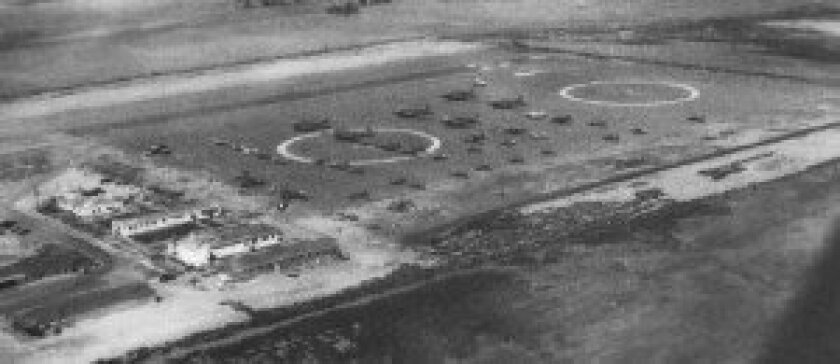 The Del Mar Airport / courtesy of the Del Mar Historical Society