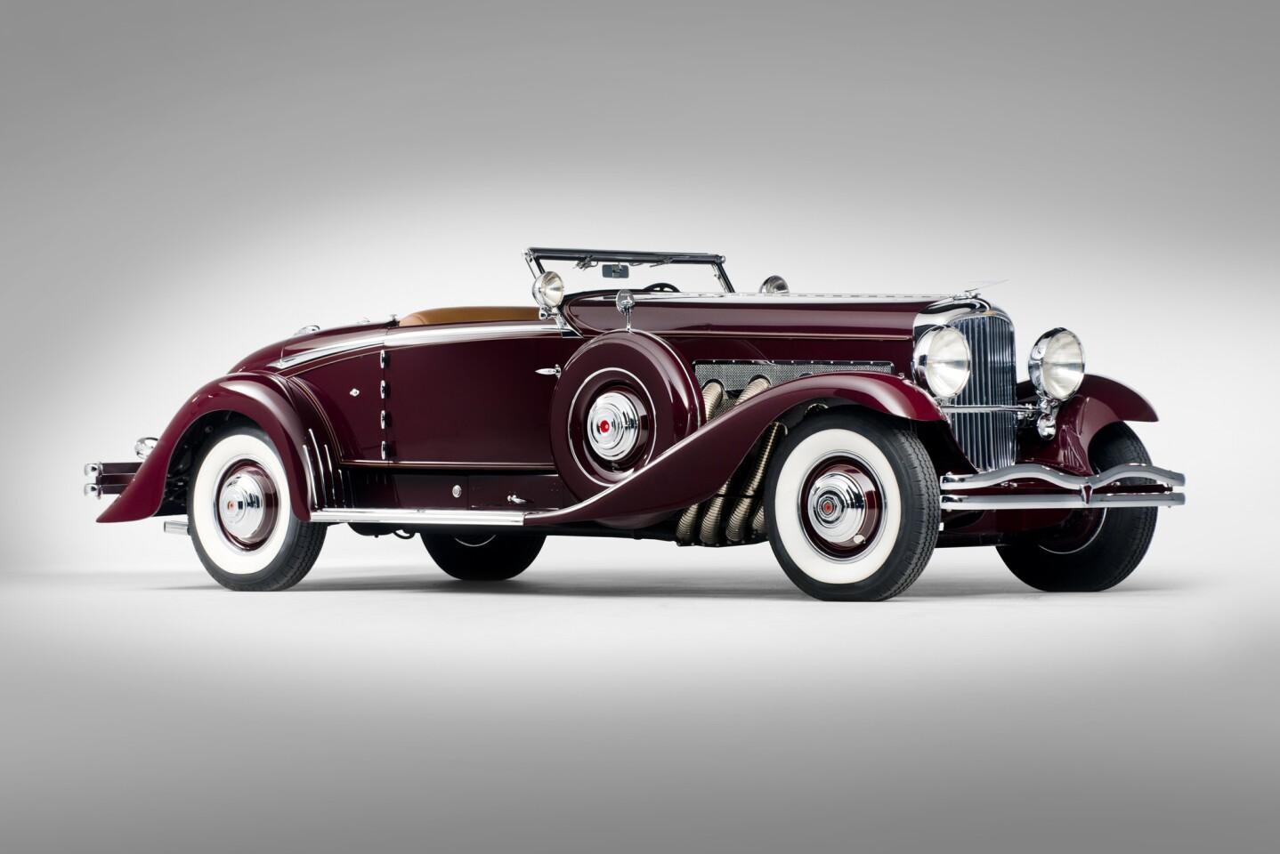 This 1935 Duesenberg Model SJ Walker-LaGrande Convertible Coupe has a pre-sale estimate of $3.5 million to $5 million.