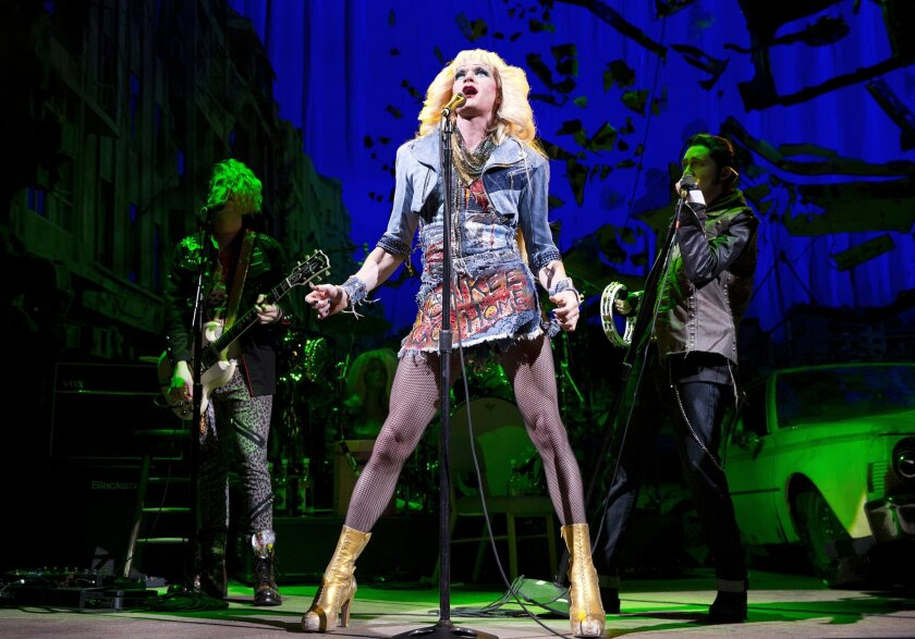 "FILE - This file image released by Boneau/Bryan-Brown shows Neil Patrick Harris in a scene from ""Hedwig and the Angry Inch,"" at the Belasco Theatre in New York. ""Hedwig and the Angry Inch,"" a cult off-Broadway hit, won eight Tony nominations on Tuesday, April 29, 2014. (AP Photo/Boneau/Bryan-Brown, Joan Marcus, File)"