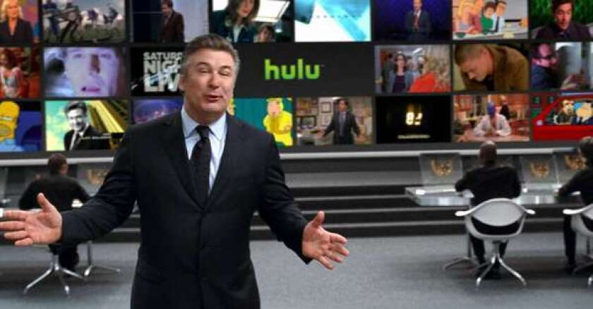 Alec Baldwin in a commercial for Hulu.