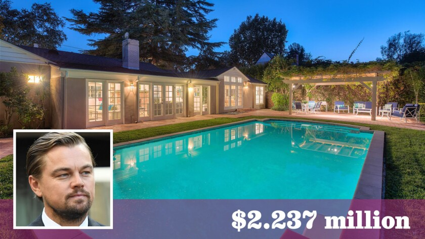 Actor Leonardo DiCaprio has sold a home in the Studio City area for about $2.24 million.