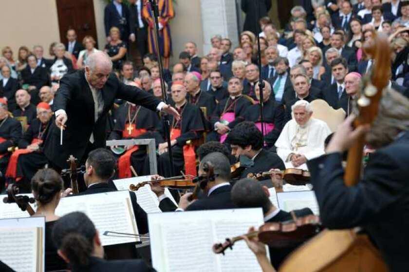 Daniel Barenboim, with Pope Benedict XVI