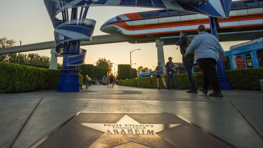 ANAHEIM, CALIF. -- WEDNESDAY, SEPT. 6, 2017: Walt Disney's star is prevalent on the Anaheim/Orange