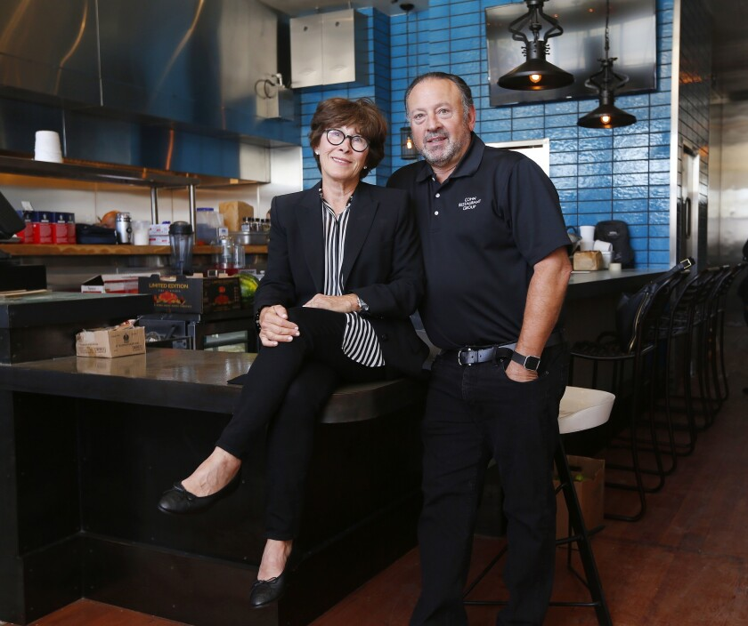 SAN DIEGO, CA - MAY 4, 2017 - Lesley and David Cohn, founders of the Cohn Restaurant Group, are open