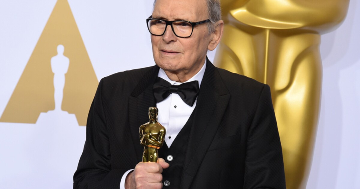 """Oscar-winning film composer Ennio Morricone, who came to prominence with the Italian western """"A Fistful of Dollars"""" and went on to write some of t"""