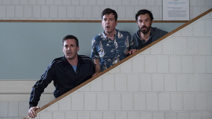 ********2018 SUMMER SNEAKS***DO NOT USE PRIOR TO SUNDAY APRIL 29TH 2018******(L-R) - Jon Hamm as Cal