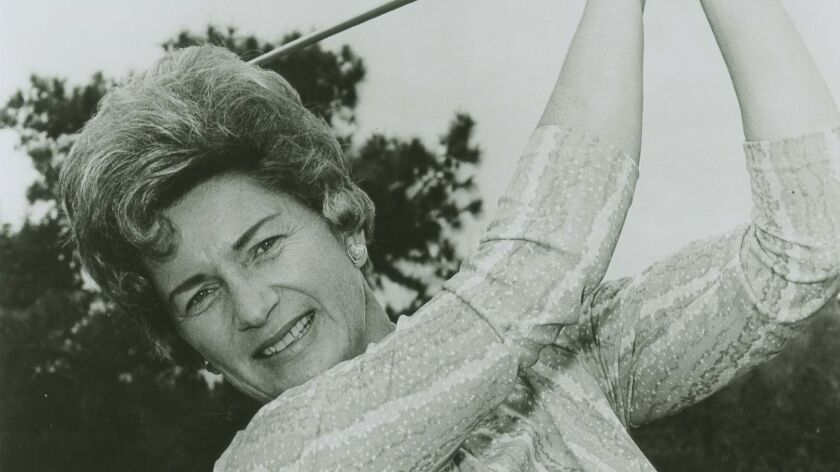 This undated photo provided by the Ladies Professional Golf Association shows Marilynn Smith, one of