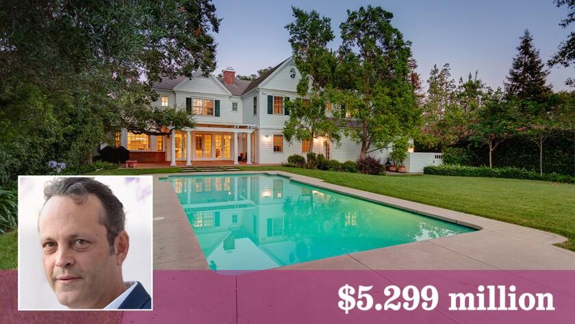 Actor Vince Vaughn has listed his La Canada Flintridge house for sale at $5.299 million.
