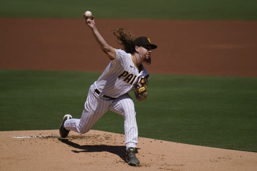 Padres starting pitcher Mike Clevinger