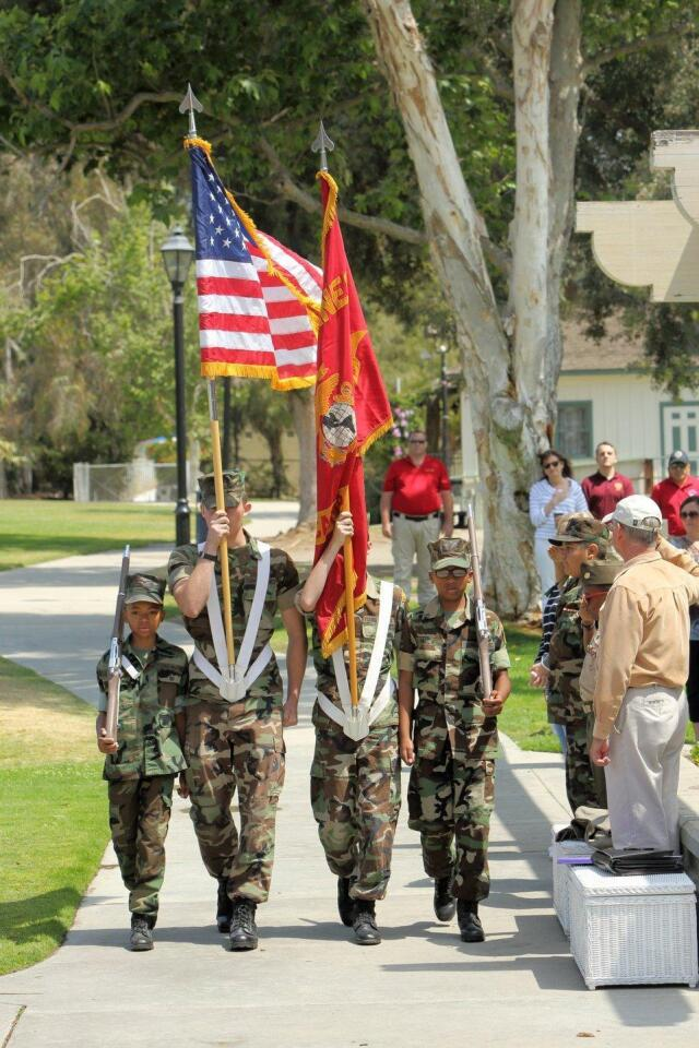 Color guard from the Camp Pendleton Young Marines