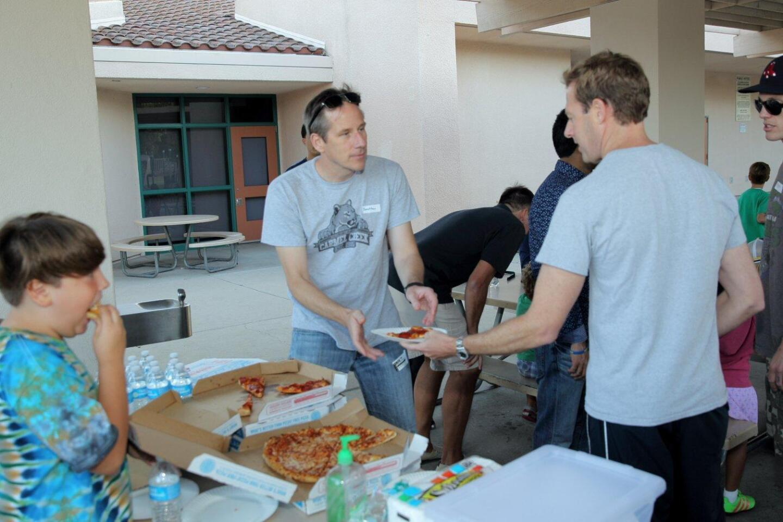 "Carmel Creek School Dad's Club ""Pops and Pizza"" event"