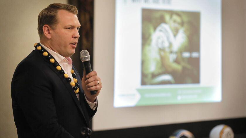 SAN DIEGO CA: March 31, 2018: Chris Nowinski, Ph.D., co-founder and CEO of the Concussion Legacy F