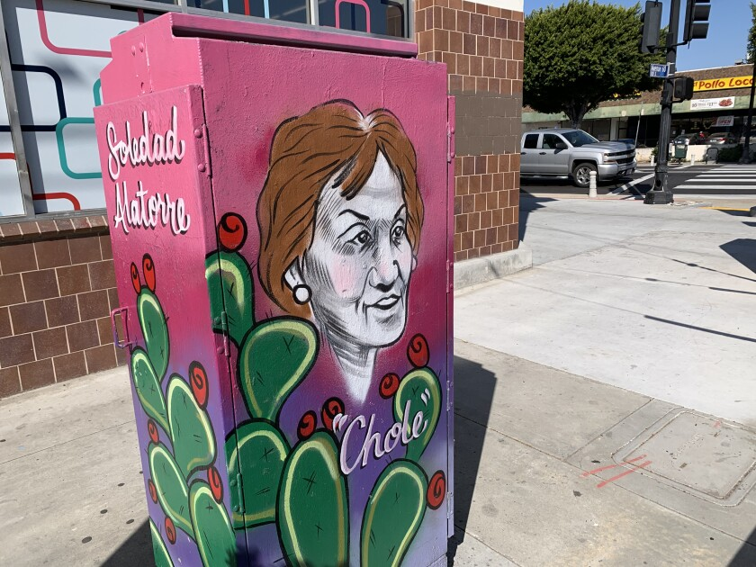 "A mural of Soledad ""Chole"" Alatorre in Highland Park."