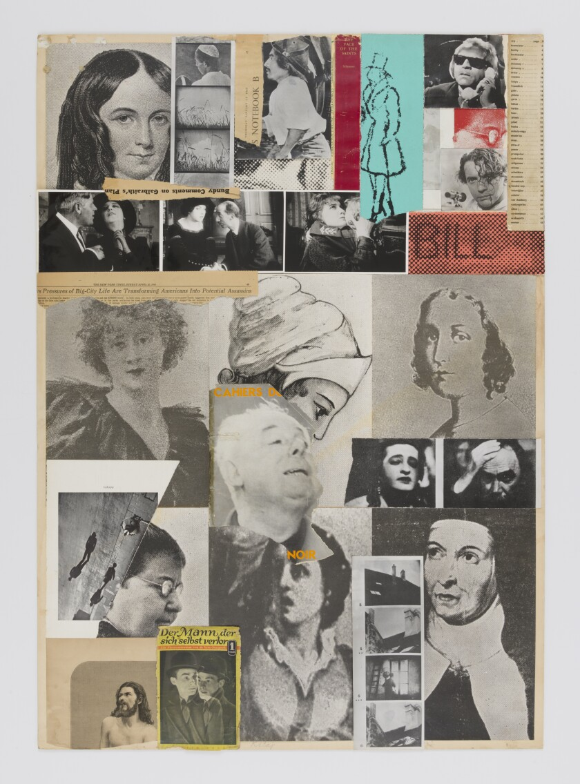 """From the Lives of the Saints,"" 1975, a collage on paper by R.B. Kitaj."