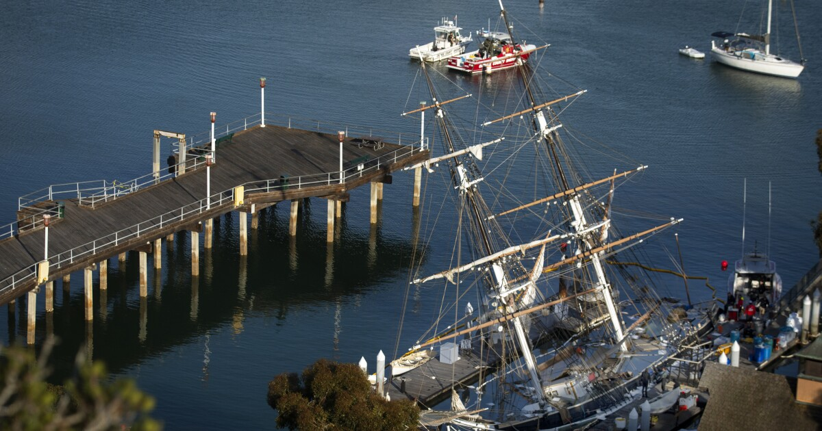 Replik Schiff Pilger, langjähriger SoCal-Feld-Reise, Reiseziel, sinkt in Dana Point Harbor
