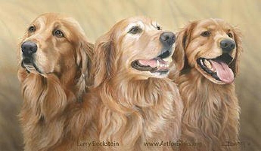 Artist Larry Beckstein's 'Golden Girls' is being offered as a prize in the Art for Barks contest. Courtesy photo