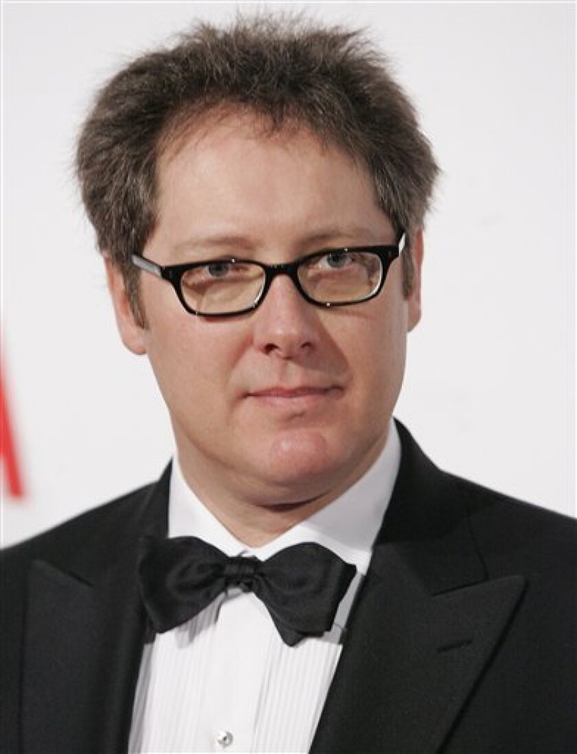"""FILE - In this Feb. 9, 2008 file photo, actor James Spader poses on the press line at the opening gala celebration of the Broad Contemporary Art Museum at LACMA in Los Angeles. NBC has signed James Spader as a regular cast member of """"The Office."""" Spader will reprise his recent guest role as manipulative salesman Robert California when the NBC comedy returns with new episodes this fall, the network announced Wednesday, July 6, 2011. (AP Photo/Dan Steinberg, file)"""