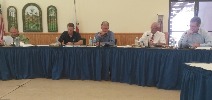 Ramona Municipal Water District Board members are, from left, President Jim Robinson and directors Jim Hickle, Bryan Wadlington, Thomas Ace and Jeff Lawler.