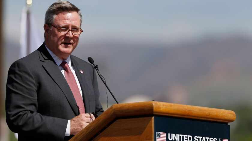 U.S. Olympic Committee Chief Executive Scott Blackmun speaks June 9 during a ceremonial groundbreaking for a new Olympic museum in Colorado Springs, Colo.