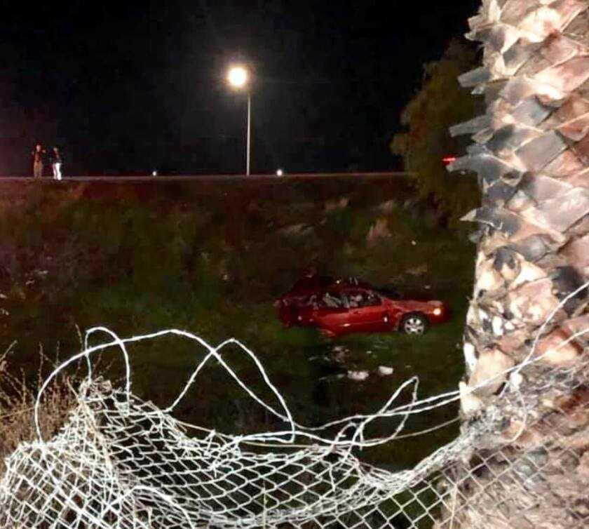 Authorities say a San Joaquin County sheriff's deputy struck a vehicle, causing the driver to lose control and slide into an embankment. An infant in the back seat died in the crash.