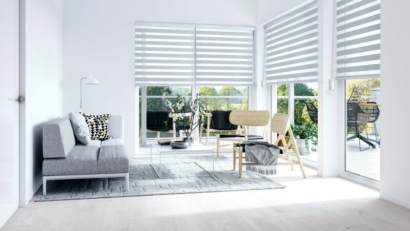 Minimalist interior with terrace