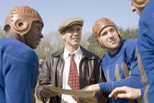 'Leatherheads' huddle
