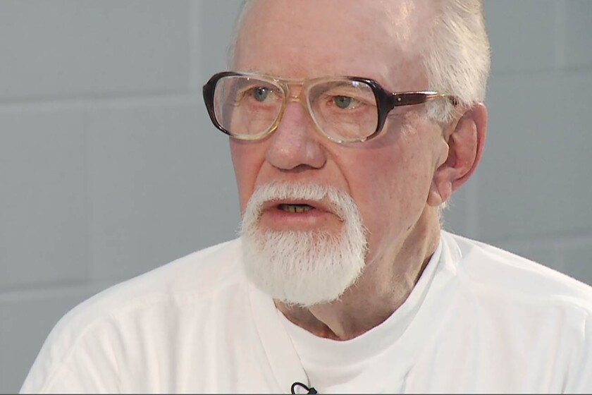 This undated image taken from video, provided by KCTV in Kansas City, Mo., shows Ken Middleton, a Missouri inmate who has insisted for 30 years that he didn't kill his wife and is clinging to hope that Missouri Gov. Mike Parson will grant him clemency. Kathy Middleton died from a gunshot wound in her Blue Springs home on Feb. 20, 1990, and her husband, Ken, was sentenced to life and 200 years for first-degree murder. (Photo courtesy KCTV via AP)