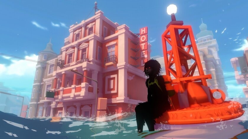 Screenshot from a story-driven adventure game, Sea of Solitude, which will be launching worldwide o