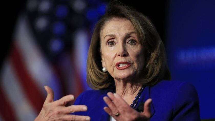 House Speaker Nancy Pelosi (D-San Francisco) is a leading proponent of keeping the House's focus on President Trump's behavior in the Ukrainian revelations.