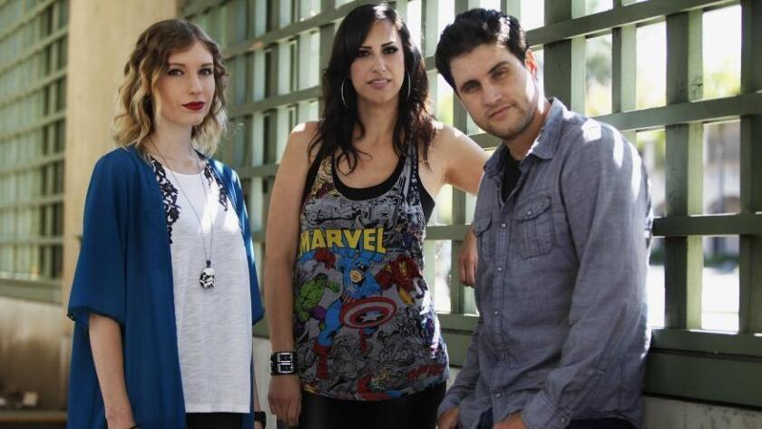 (From left)Trisha Murphy, Rachel Yauch, Joel Jones, and Stephanie Pandes(not in photo) will host the first Nerd Con convention Aug. 22, 2015 at the California Center for the Arts in Escondido. (/ Giana Leone)