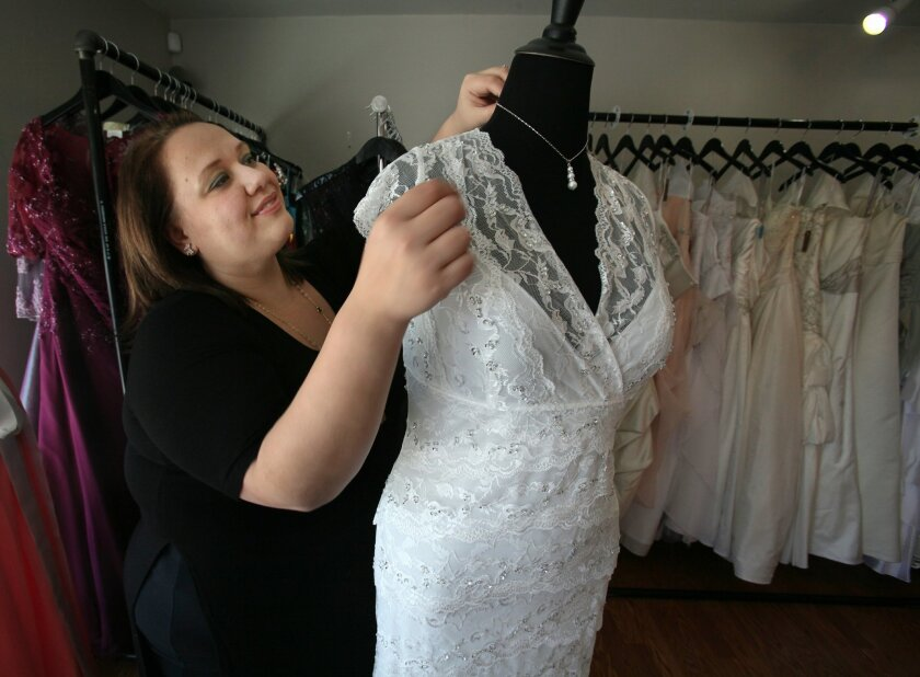 Danielle Springer has opened Unveiled Bridal, which she calls the first bridal shop in San Diego County that sells only plus-size wedding gowns, bridesmaids dresses and accessories. Her Escondido shop opened just four months ago.