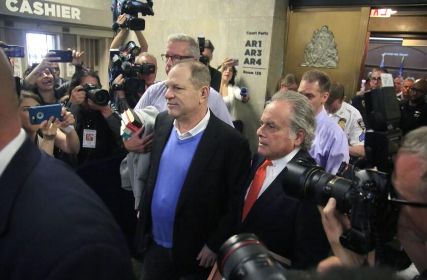 Harvey Weinstein y sus abogado Benjamin Brafman.
